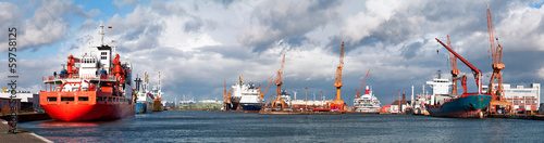canvas print picture Hafenalltag in Bremerhaven