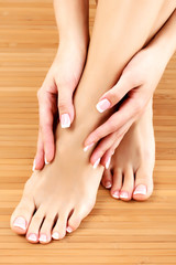 Female hands and feet