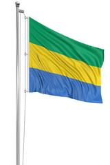 3D Gabon flag