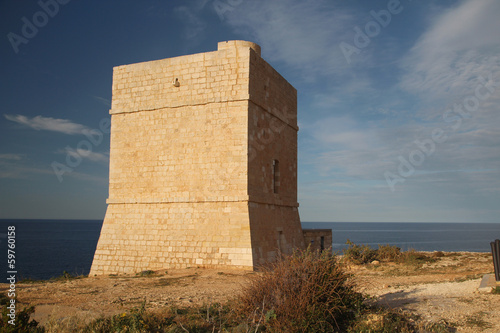 Madliena Watchtower at the Malta coast