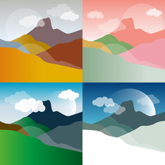 Mountains landscape backgrounds