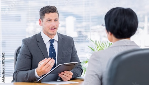 Recruiter checking the candidate during job interview
