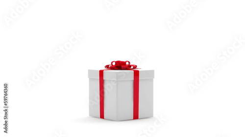 Animation of Opened Gift Box with Chocolate Easter Egg Inside