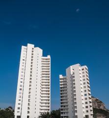 Condominium building in blue sky , Hua hin , Thailand
