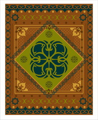 decorative vector carpet pattern