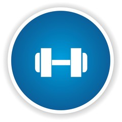 Fitness symbol,Blue button,vector