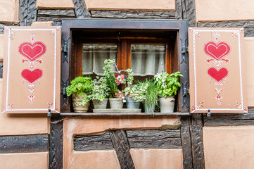 Traditional Windows in Alsace, France