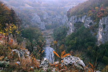 Emen Canyon near Veliko Tarnovo in the Late Fall