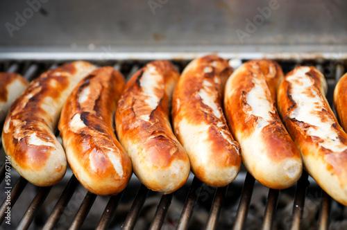 Staande foto Grill / Barbecue Bratwurst, Grillwürstchen