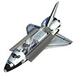 Leinwanddruck Bild - Space Shuttle On White Background