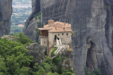 Meteora monastery in greece