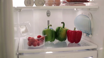 Vegetables in the fridge