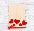 Beautiful romantic background with decorative hearts