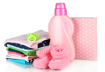 Softener dryer and washing powder with children clothes