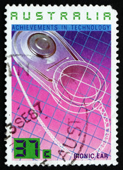 Postage stamp Australia 1987 Bionic Ear, Technology