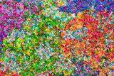 abstract pointillist oil painting