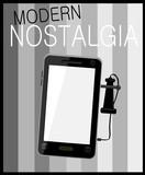 nostalgia cell phone graphic design poster