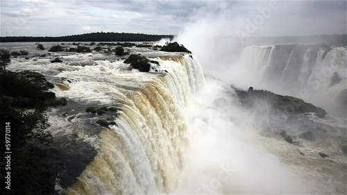 Iguassu waterfall in Brazil and Argentina border