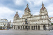 A Coruna Town Hall on Maria Pita Square in Galicia, Spain.