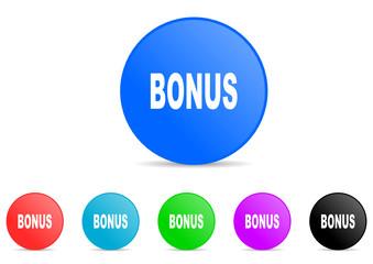 bonus icon vector set