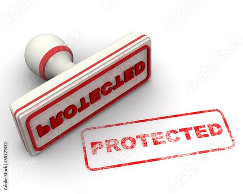 Protected (Защищён). Печать и оттиск