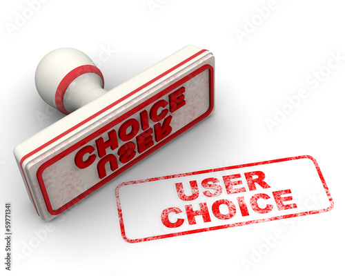 User choice (Выбор потребителей). Печать и оттиск