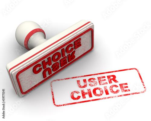 User choice (Выбор потребителей). Печать и оттиск