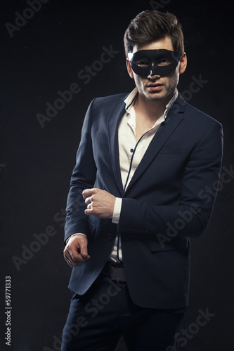 Poster Handsome man in mask