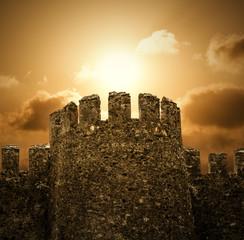 The Castle with Sundown