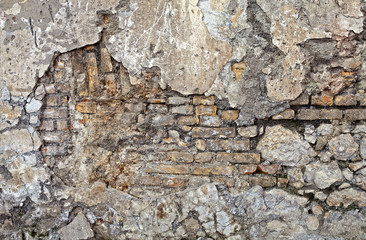parete mista pietra e mattoni