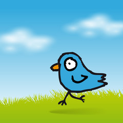 Tweet blue bird background