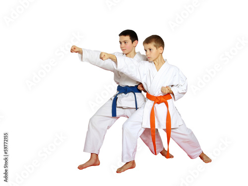 Athletes on a white background beat punch hand - 59772155