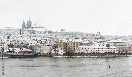 Snow in Prague