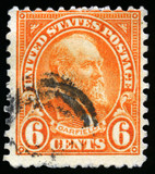 Vintage US Postage Stamp of President Garfield (1922)