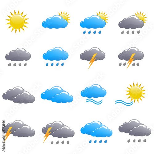 Weather icon set summer day