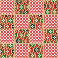 seamless japanese traditional paper pattern