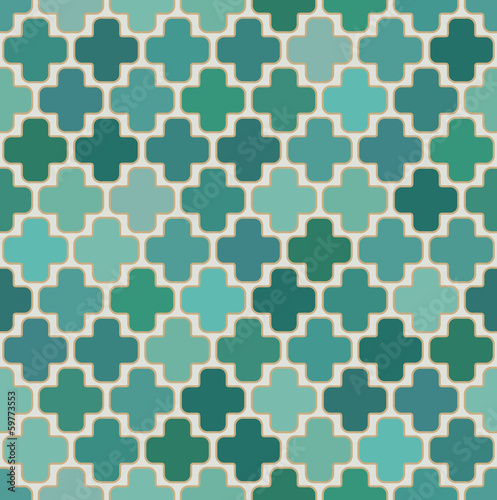 seamless islamic cross geometric pattern