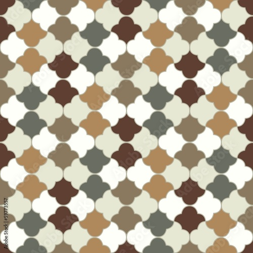 seamless islamic tiles pattern