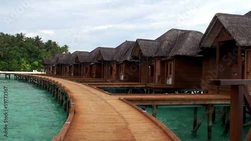 Overwater bungalows. Maldives.