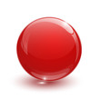 Red glassy ball