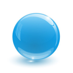 Navy blue glassy ball