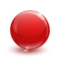 Red glassy ball