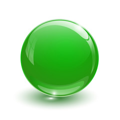 Green glassy ball