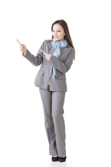 business woman showing