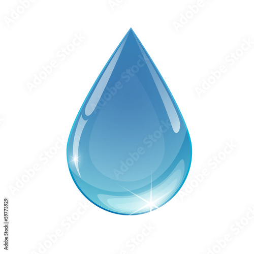 Blue drop towards