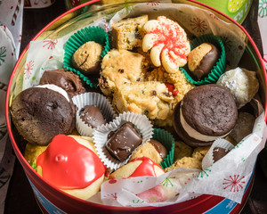 Box of fancy cookies for holiday