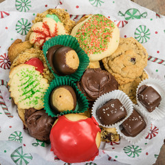Plate of fancy cookies for holiday