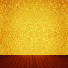 金箔の壁と床