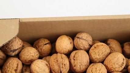 Walnuts in market
