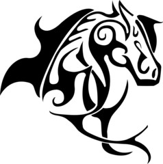 Vector head of horse for tattoo